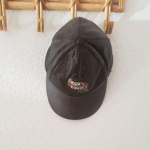 Vintage Harley Davidson Leather baseball Cap